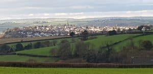 Great Torrington over the fields