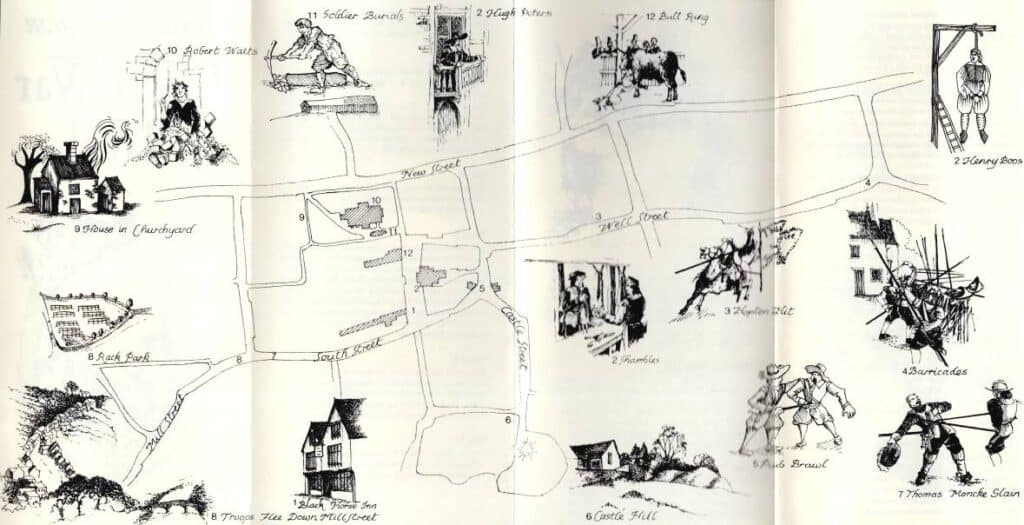 Civil War Trail old map
