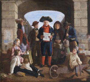 Doe (Miss); The Bellman; Great Torrington Almshouse, Town Lands and Poors Charities; http://www.artuk.org/artworks/the-bellman-95289